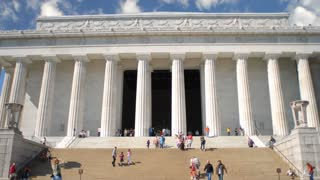 Low Angle Of Lincoln Memorial