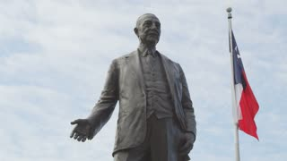 Low Angle Shot of George B. Dealey Statue in Dallas