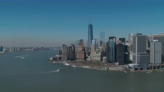 Lower Manhattan Aerial Skyline