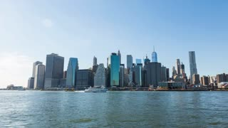Lower Manhattan Skyline New York City Day Timelapse