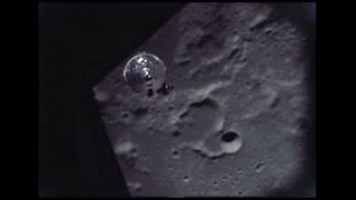 Lunar Module Descending to Moon Surface