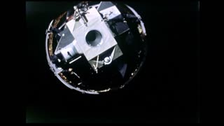 Lunar Module Floating in Space