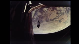 Lunar Module Flying Away From Command Module