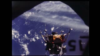 Lunar Module Leaving Docking Port