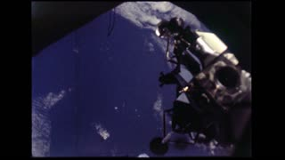 Lunar Module Leaving Docking Station