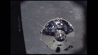 Lunar Module Lowering To Moon Surface
