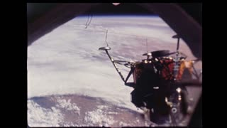 Lunar Module Over Planet