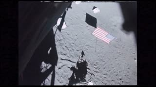 Lunar Module POV Blasting Off Surface