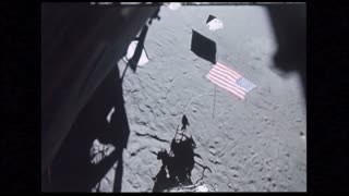 Lunar Module POV of USA Flag