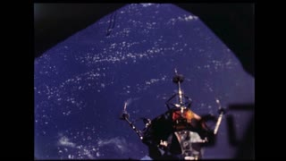 Lunar Module Undocking and Preparing to Land