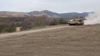 M1A1 Abrams main battle tank of 4th Tank Battalion Annual Training