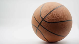 Macro Shot of Basketball on white background