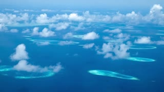 Maldives Islands aerial view.