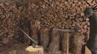 Man Accidently Chops His Finger in Woodshed Accident