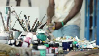 Man People Person At Work In Art Studio Equipment Tools