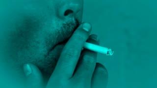 Man Smoking Blue