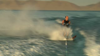 Man Waterskiing