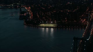 Manhattan East River Sweeping Aerial