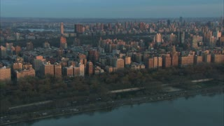Manhattan Morning Light Aerial