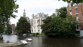 Mansions On Canal In Amsterdam