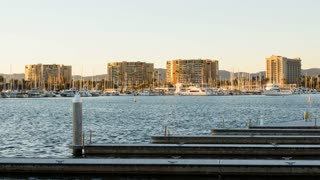 Marina Del Rey, Los Angeles, California Day To Night Sunset Timelapse