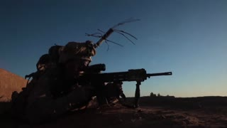 Marines in a  Firefight in Afghanistan