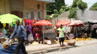 Market Vendors On Street Port-au-prince Haiti