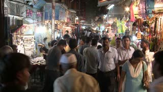 Marketplace at Night in India Timelapse