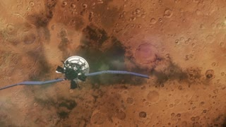 Mars Satellite in Orbit