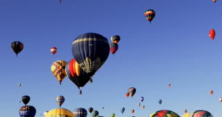 Mass ascension as hundreds of hot air balloons take to the sky