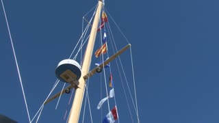 Masts of Sailboat Tilt View