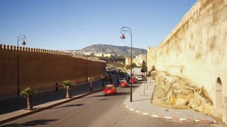 Medieval ramparts of the Old City, Fes el bali, Fes, Morocco, North Africa, T/Lapse