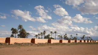 Medieval ramparts of the Old City, Marrakech, Morocco, North Africa, T/Lapse
