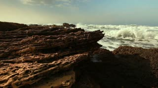 Mediterranean Waves Crashing
