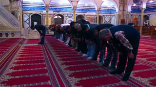 Men Praying In Mosque 2