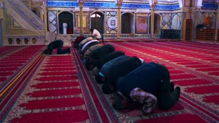 Men Praying In Mosque 4