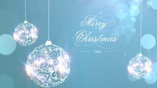 Merry Christmas Background with Ornaments