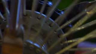 Metal Bike Spokes Spinning