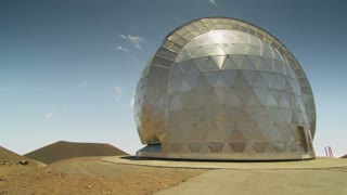 Metal Geometric Domed Building