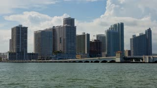 Miami and Boats with Bridge Opening Day Timelapse