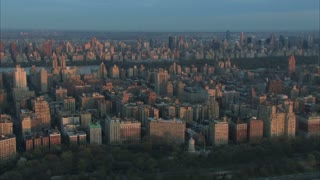 Midtown Manhattan Beginning Sunrise Aerial