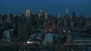 Midtown Manhattan Dawn Aerial