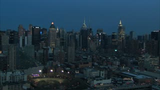 Midtown Manhattan New York Dawn Aerial