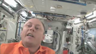 Mike Fincke Giving Guided Tour of ISS