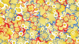 Mini Retro Flowers Yellow