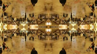 Mirrored Grand Central Station