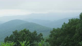 Mist Over A Forested Mountain Ridge Line, Blue Ridge Mountains