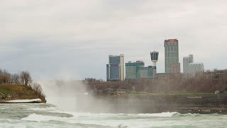 Misty Niagara Falls City