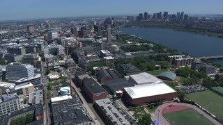 Mit And Boston, Wide Angle Aerial Shot, Massachusetts