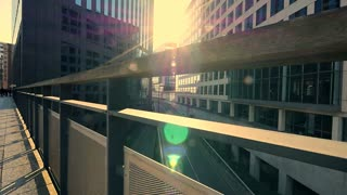 modern office building. sunbeam.  business background